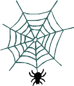 if you see a spider web dont stop to look at in and wonder upon how such a little guy could make such a spectacle no dont stop at all run - Halloween Spiders