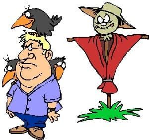 Scarecrow, Man and Bird